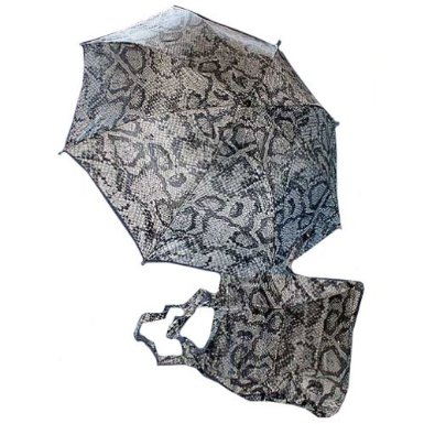 Snake Animal Print Umbrella and Tote Bag Set